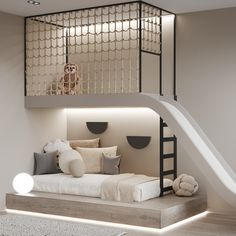 Boys Room Design, Kids Bedroom Designs, Room Design Bedroom, Cool Kids Bedrooms, Modern Girls Bedrooms, Modern Kids Rooms, Suites, Girl Room, Child Room
