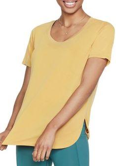 Types Of Sleeves, Sleeve Types, Diamond Logo, Crew Neck, V Neck, S Shirt, Jersey Shorts, Skechers, Short Sleeve Dresses