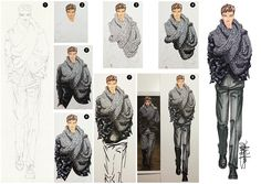 fashion illustrations of menswear trends