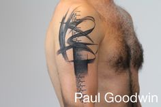 Abstract black tattoo with a pattern