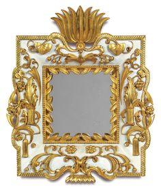 Dagobert Peche (1887-1923), Mirror, Carved Gilt Wood, 1922.