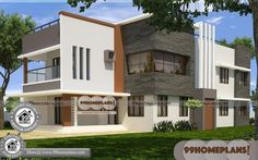 Small Two Storey Homes Contemporary Two Story House Designs Best Small House Designs, Best Modern House Design, Modern House Plans, Small House Plans, House Plans With Pictures, House Design Pictures, Beautiful Small Homes, Small Modern Home, Two Story House Design
