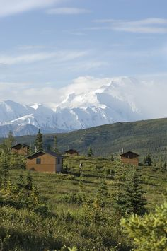 18 guest cabins are situated to take advantage of the impressive vista; each has a view of Mt. McKinley and the Alaska Range.