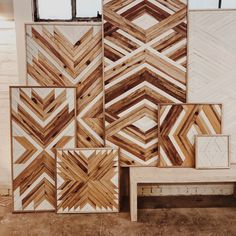 Wooden Wall Art, Diy Wall Art, Wood Wall, Woodworking Projects Diy, Diy Wood Projects, Woodworking Plans, Reclaimed Wood Paneling, Deco Nature, Pallet Art