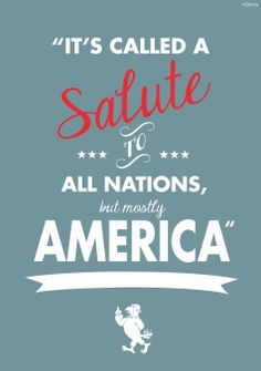 """It's called a Salute to all nations, but mostly America"" - Sam the Eagle #Muppets #WaltDisneyWorld"