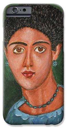 Portrait IPhone 6s Case featuring the painting Princess Portrait by Grigorios Moraitis