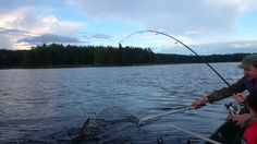 Video of Claire catching a pike on a fishing trip at the archipelago of Kuopio, Finland.