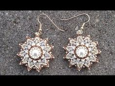 ▶ Beading4perfectionists : Pearl / superduo / seedbeads earrings beading tutorial - YouTube