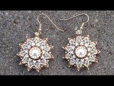 Beading4perfectionists : Pearl / superduo / seedbeads earrings beading tutorial - YouTube
