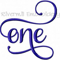 One Machine Embroidery Word Design - 4 Sizes