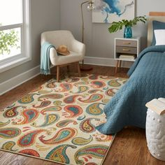 Mohawk Home Prismatic Spiced Paisley Area Rug - 5'x 8'