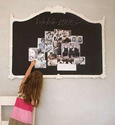 Magnetic chalkboard mirror