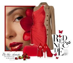 Los ojos son el espejo del alma by paolafashion on Polyvore featuring polyvore, fashion, style, Donna Karan, Vivienne Westwood, Christian Louboutin, Giuseppe Zanotti, WALL, clothing, red dress and coats