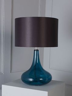 Linea Ryan Teal Glass Base Table Lamp New from House of Fraser | eBay