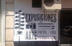 "Mural ""Music-Bar 4Gatos"" by Juan Carlos Andrades, via Behance"