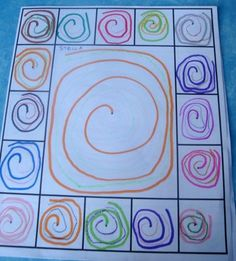 This would be great for dry erase mats! Place design in middle and see if kiddos can copy it inside of each box around the edge. Pre Writing, Writing Skills, Kindergarten Art, Preschool, Art For Kids, Crafts For Kids, Form Drawing, Dot Day, Math Projects