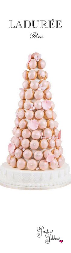 Frivolous Fabulous - Mikimoto by Ladurée Collection The exquisite macaron tower combines the delicate flavors of roses and lychees, which serves as the cream filling. Each macaron is coated with an iridescent sheen, expressing the radiance of jewelry, and is decorated with a tiny nonpareil pearl. This tower is so special and exclusive, pricing information is provided only upon request. Mikimoto by Ladurée Collection