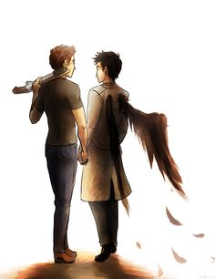 CUTE FANART IS CUTE. #supernatural #deancas #wings