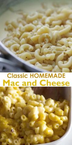 Classic Homemade Mac and Cheese made with bite-size pasta, cheddar cheese, and a simple creamy sauce all baked to perfection in the oven. This recipe includes tips, tricks, and photos for making PERFECT baked mac and cheese. Best Mac And Cheese Recipe Easy, Best Macaroni And Cheese, Macaroni Cheese Recipes, Making Mac And Cheese, Easy Mac And Cheese, Mac And Cheese Homemade, Pasta Recipes, Cooking Recipes, Creamy Cheese