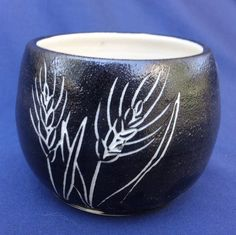 READY TO SHIP Handmade Wheat Candle Bowls by FriesenArt on Etsy, $12.00