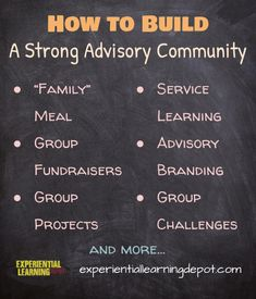 How do you build a strong advisory or classroom community? How do you get it back when it seems your classroom culture has taken a turn for the worst? Try these tricks and tips to get your group back on track. High School Activities, Teaching Activities, Teaching Strategies, Learning Resources, Teaching Ideas, Critical Thinking Activities, Problem Based Learning, Experiential Learning, Classroom Community