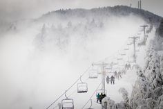 A wintery ski day Killington Vermont.