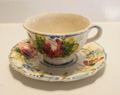 ceramic floral teacup antique - Google Search