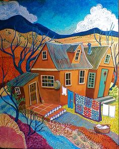 """Airing The Quilt"" ~ Sally Bartos Art"