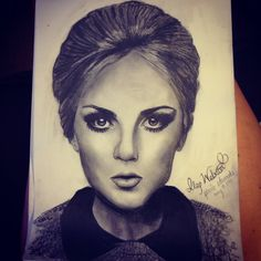 My drawing of perrie Edwards