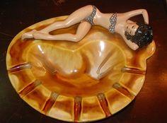 Duncan Ceramic Pin-Up Ashtray - love