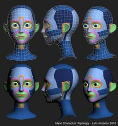 Got Wires? - A Subdivision Modeling Blog: Tutorial: Luis Antonio – Head Topology