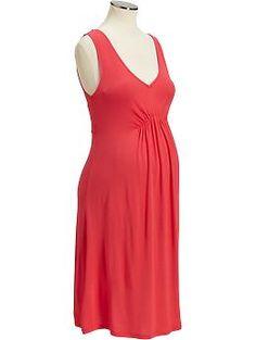 $18.00 Maternity Elastic-Yoke Tank Dresses | Old Navy