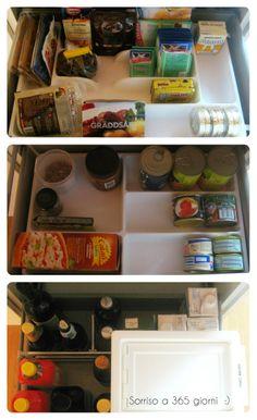 cassetti (ingredienti per dolci, scatolame) e cassettone (olio, aceto, birra, vino, succhi di frutta, latte + bidone con crocchette canine) sorriso a 365 giorni: Paroladordine: organizzare la credenza (2)