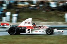 Emerson Fittipaldi driving a McLaren-Ford won the 1974 Canadian Grand Prix