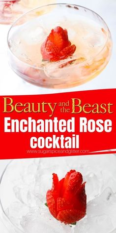 Cocktail Movie, Rose Cocktail, Cocktail Sauce, Cocktail Shaker, Iced Tea Recipes, Cocktail Recipes, Disney Cocktails, Disney Dining Tips, Strawberry Cocktails