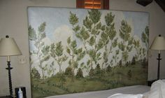 LYNDA BERGMAN DECORATIVE ARTISAN: PAINTING A HUGE CANVAS TO COVER A HEADBOARD