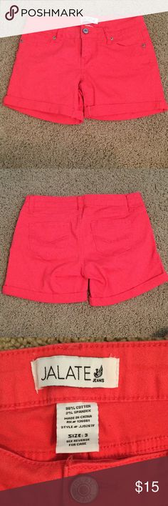 Red Jalate Jean Shorts These red Jalate Jean shorts have only been worn a handful of times and are in great condition! Willing to trade depending on the item! jalate jeans Shorts Jean Shorts