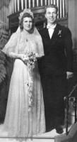 1941 Pittsburgh wedding...Despite traditional etiquette to the contrary, grooms in the 1930s and '40s regularly wore tuxedos to church and often mismatched them with a white bow tie.