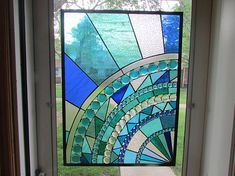 Stained Glass Panel Custom Stained Glass, Faux Stained Glass, Stained Glass Designs, Stained Glass Panels, Stained Glass Projects, Stained Glass Patterns, Mosaic Art, Mosaic Glass, Glass Art Design