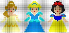 cross stitch  princess pattern for child to do