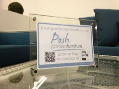 One of our fellow #SBS winners was looking for a tag to link to their website and it was great to create their bespoke tag with such a cool logo and colour scheme. This tag for @Posh Garden Furniture #Posh #Garden #Furniture has a #QR and #contactless access area which directs customers to their website. They sell some stunning pieces for your outdoor space and you can take a peek over at their site from the link above