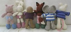 lots of little woolly botties with lots of different tails! Knitted Dolls, Crochet Toys, Knit Crochet, Little Cotton Rabbits, Original Design, Textiles, Knitted Animals, Stuffed Animal Patterns, Hand Knitting