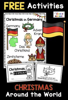 Nicholas printables - Christmas Around the world for kindergarten and first grade - FREE UNIT – Christmas in Germany and all about St Nicholas – learn all about Saint Nicholas thi - Christmas Traditions In Germany, Christmas In Germany, Christmas In Italy, A Christmas Story, Retro Christmas, Country Christmas, Christmas Christmas, Primitive Christmas, Kindergarten Units