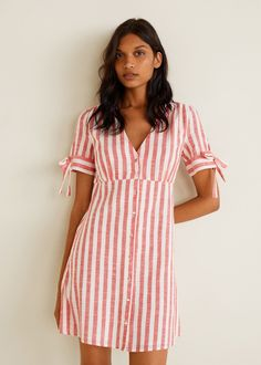 Discover the latest trends in Mango fashion, footwear and accessories. Shop the best outfits for this season at our online store. Formal Dresses For Women, Casual Summer Dresses, Simple Dresses, Cute Dresses, Short Dresses, Dress Outfits, Fashion Dresses, Mode Boho, Cotton Dresses