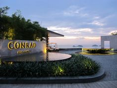 During the beautiful sunset at the Arrival Lobby, Conrad Koh Samui