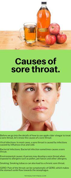 #applecidervinegar #health #organic #flu Causes of sore throat.