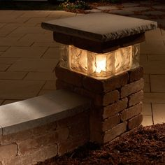 Pillars add a finishing touch to any outdoor living room. Pillars can be added to seat walls or built as a freestanding landscape feature such as a property marker or light base. These pillars are available in Bluestone, Desert, or S Landscape Lighting, Outdoor Lighting, Lighting Ideas, Outdoor Pillar Lights, Wall Lighting, Backyard Patio, Backyard Landscaping, Landscaping Ideas, Backyard Ideas