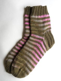 https://flic.kr/p/dS1EnL | Hand Knit Striped Wool Socks | Fun and unpredictable gradient! www.etsy.com/shop/PoemsAboutMe