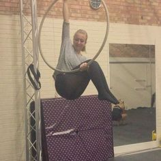 Awesome hoop lesson tonight, Learnt a new drop :) #aerial #aerialhoop #aerialistsofig #strength #circus