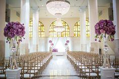 Purple Hollywood Glam Atlanta Wedding at 200 Peachtree - MODwedding